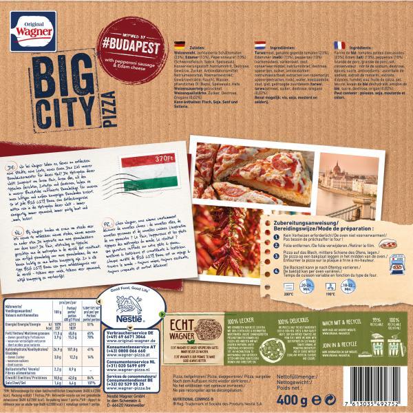 Wagner Big Pizza Zubereitung