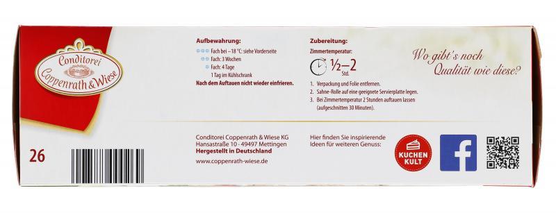 Coppenrath & Wiese Sahne-Rolle Erdbeere