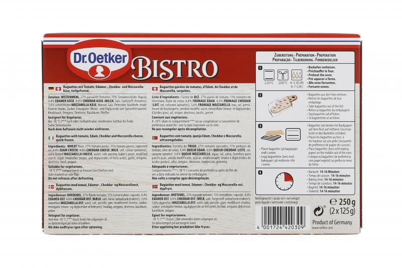 Dr. Oetker Bistro Baguette Tomate & Fromage