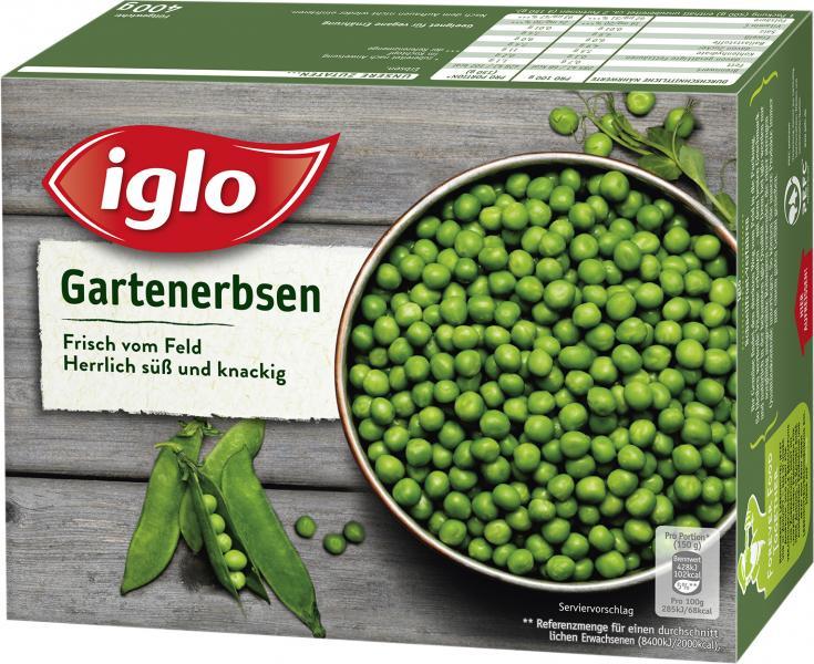 Iglo Frisch vom Feld Gartenerbsen