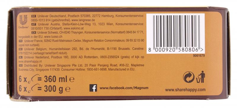 Magnum Mini Mix Classic, Weiss, Mandel
