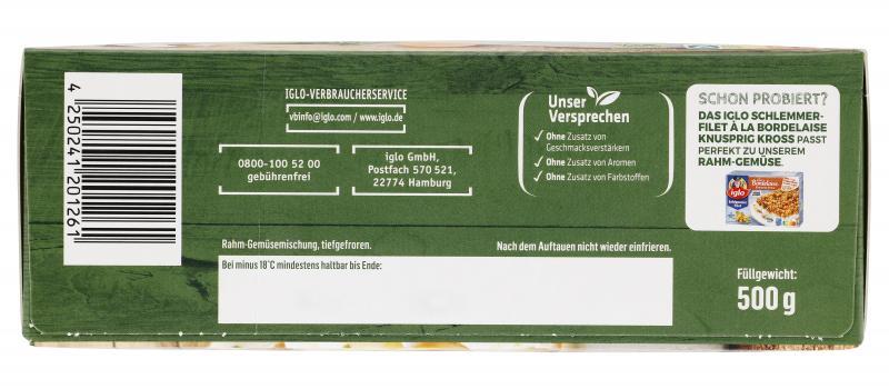 Iglo Rahm-Gemüse Königsgemüse