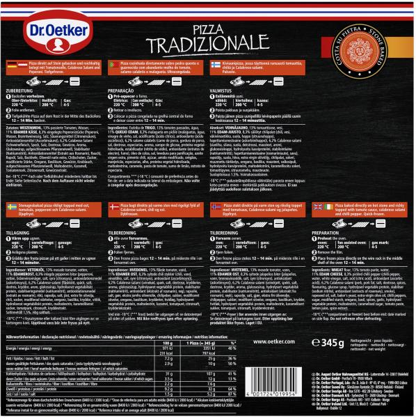 Dr. Oetker Pizza Tradizionale Diavola Calabrese