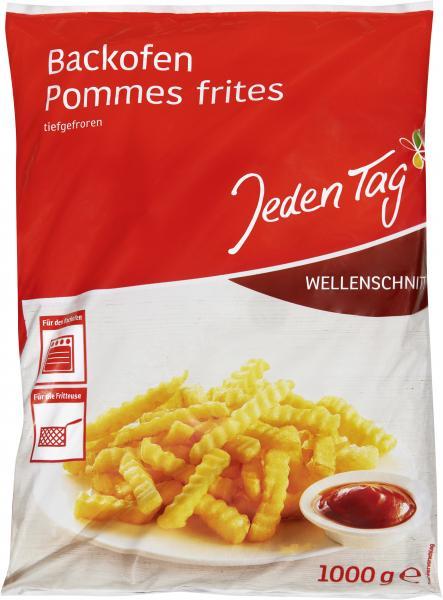 Jeden Tag Backofen Pommes Frites Wellenschnitt