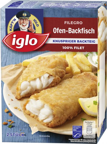 Iglo Filegro Ofen-Backfisch Knuspriger Backteig