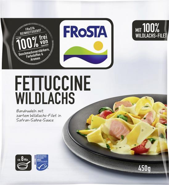 Frosta Fettuccine Wildlachs in Safran Sahne Sauce