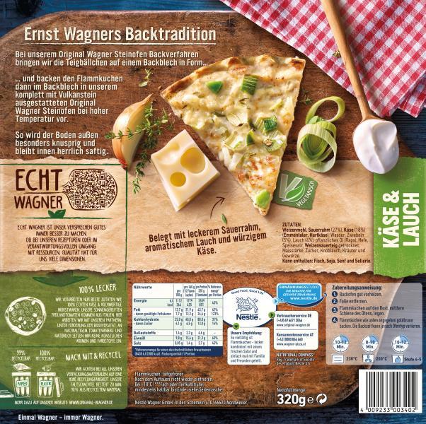 Original Wagner Flammkuchen Käse & Lauch