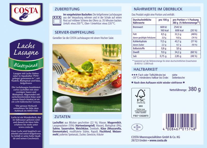 Costa Lachs-Lasagne