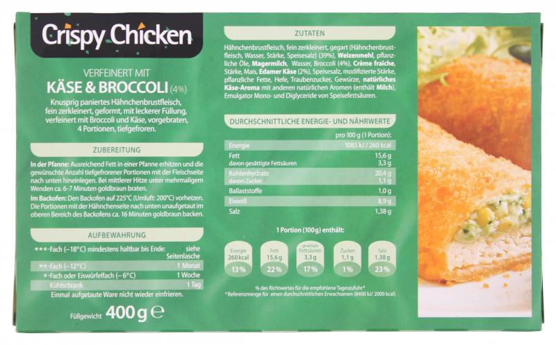 Copack Crispy Chicken Käse & Broccoli