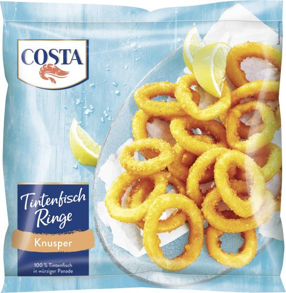 Costa Tintenfischringe in Kunsperpanade