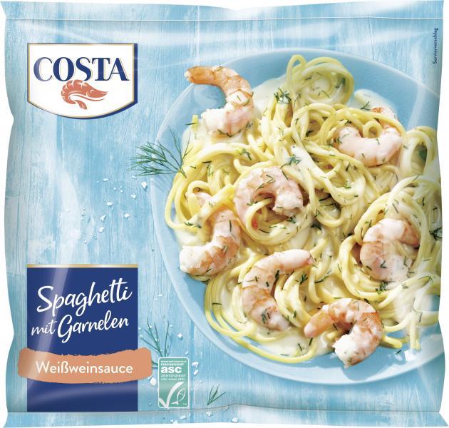 Costa Pacific Prawns Spaghetti Weißwein Kräuter