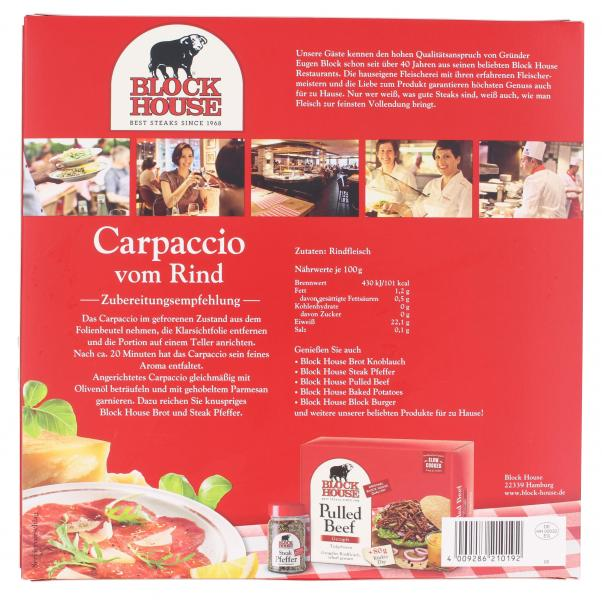 Block House Carpaccio vom Rind