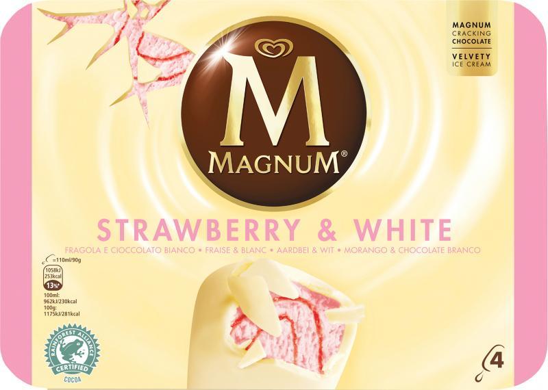 Magnum Strawberry & White