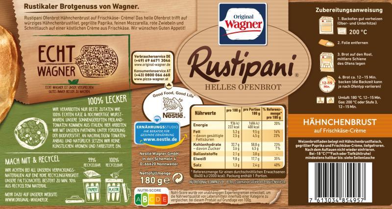 Original Wagner Rustipani Hähnchenbrust auf Frischkäse-Creme