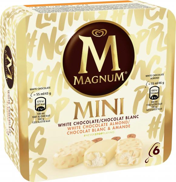 Magnum Mini White Chocolate & White Chocolate Almond