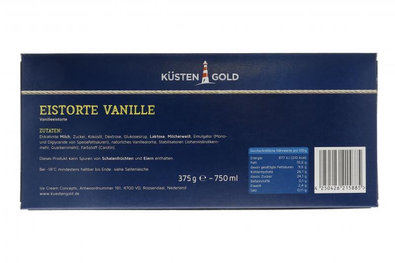 Küstengold Eistorte Vanille