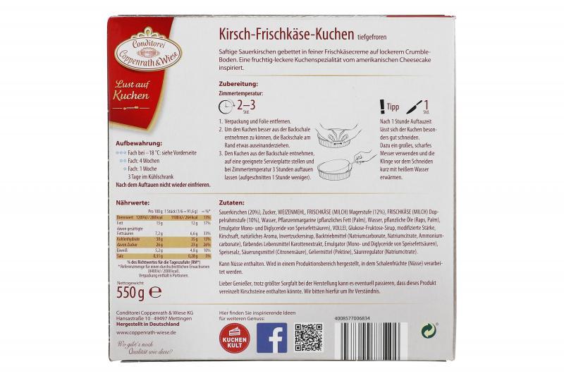 Coppenrath & Wiese Lust auf Kuchen Kirsch-Frischkäse