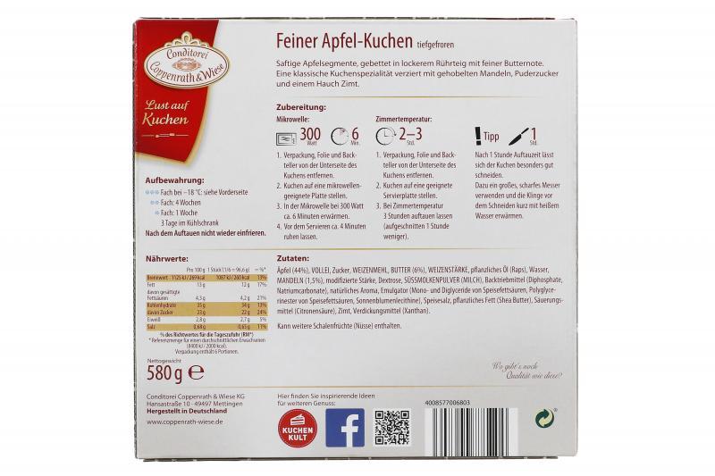 Coppenrath & Wiese Lust auf Kuchen Feiner Apfel
