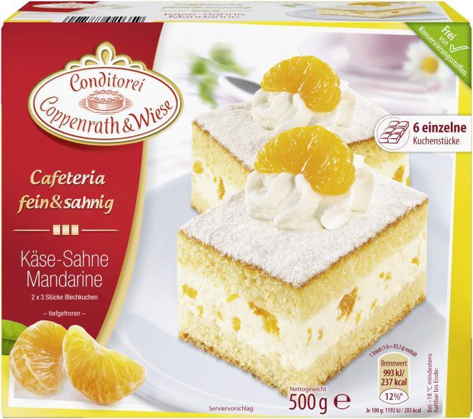 Coppenrath & Wiese Cafeteria fein & sahnig Käse-Sahne Mandarine