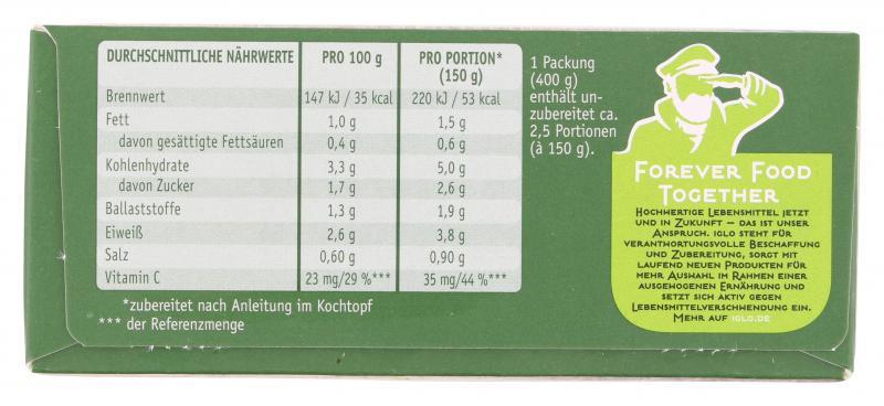 Iglo Gemüse-Ideen Brokkoli & Blumenkohl in Joghurt-Sauce