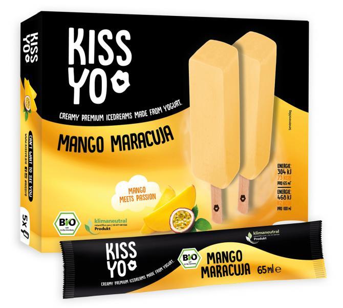 Kissyo Bio Joghurteis Mango-Maracuja am Stiel