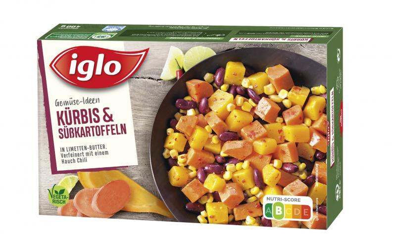 Iglo Gemüse-Ideen Kürbis & Süßkartoffeln in Limetten-Butter