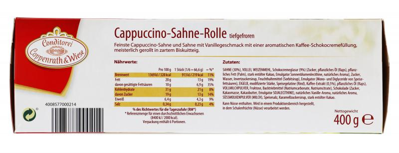 Coppenrath & Wiese Sahne-Rolle Cappuccino