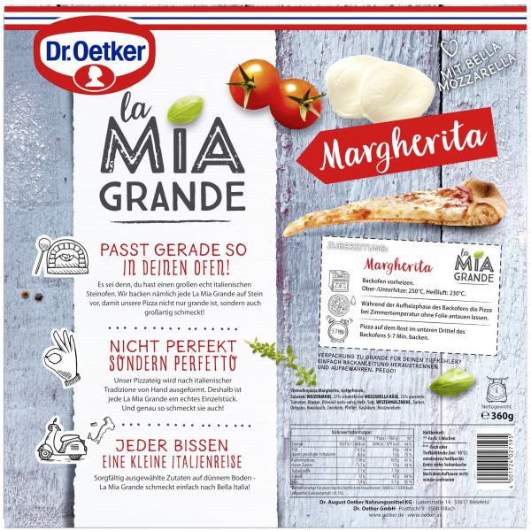 Dr. Oetker La Mia Grande Pizza Margherita