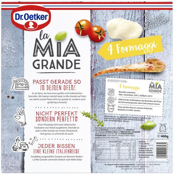 Dr. Oetker La Mia Grande Pizza 4 Formaggi