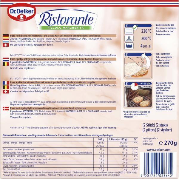 Dr. Oetker Ristorante Pizza Piccola Margherita
