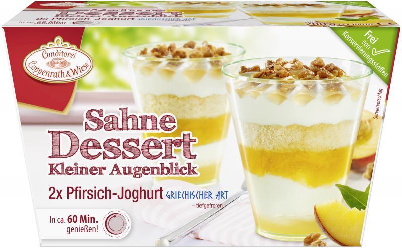 Coppenrath & Wiese Kleiner Augenblick Pfirsich-Joghurt griechischer Art