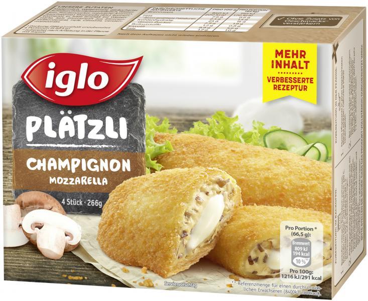Iglo Plätzli Champignon Mozzarella
