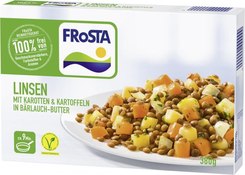 Frosta Linsen in Bärlauch-Butter
