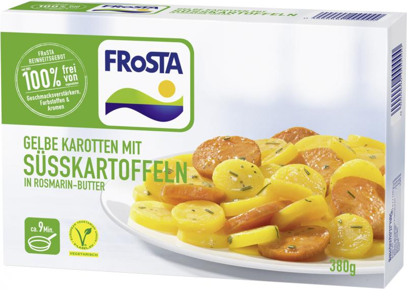 Frosta Gelbe Karotten mit Süsskartoffeln in Rosmarin-Butter