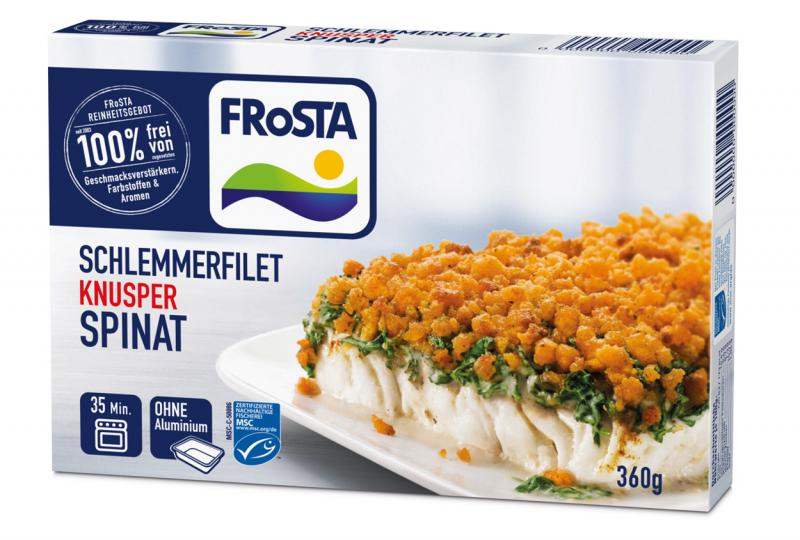 Frosta Schlemmerfilet Knusper Spinat