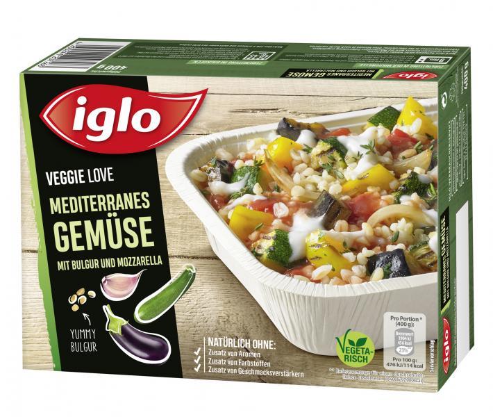 Iglo Veggie Love Mediterranes Gemüse mit Bulgur und Mozzarella