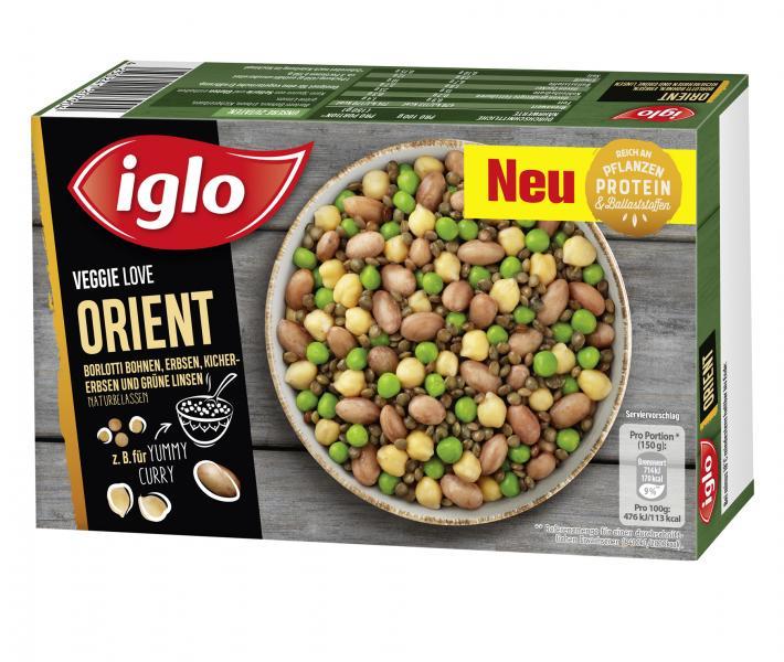Iglo Veggie Love Orient Hülsenfrüchte mit Curry