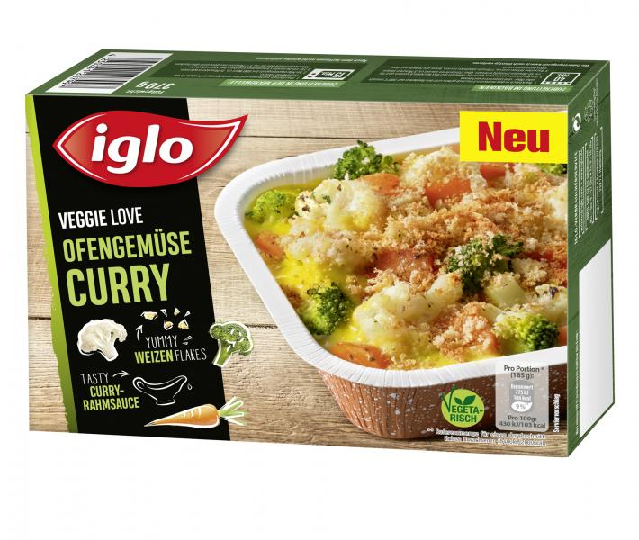 Iglo Veggie Love Ofengemüse Curry