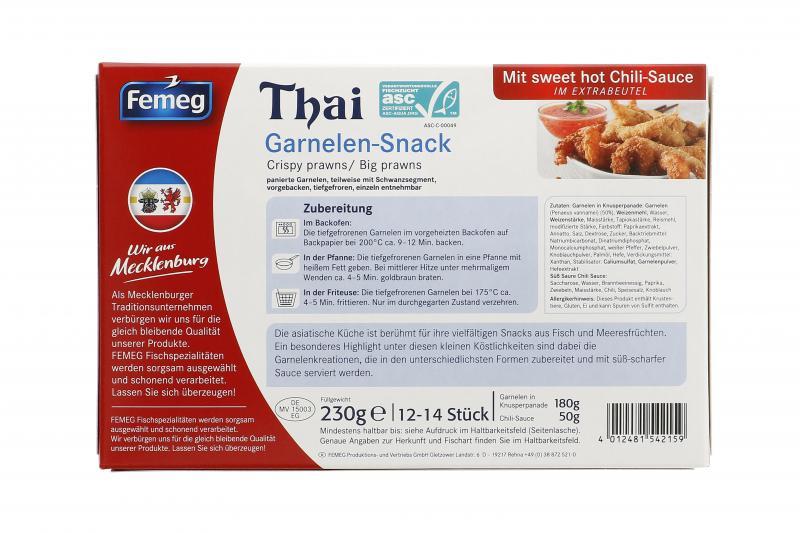 Femeg Thai Garnelen Snack