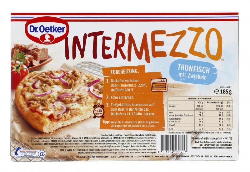 Dr. Oetker Intermezzo Thunfisch mit Zwiebeln
