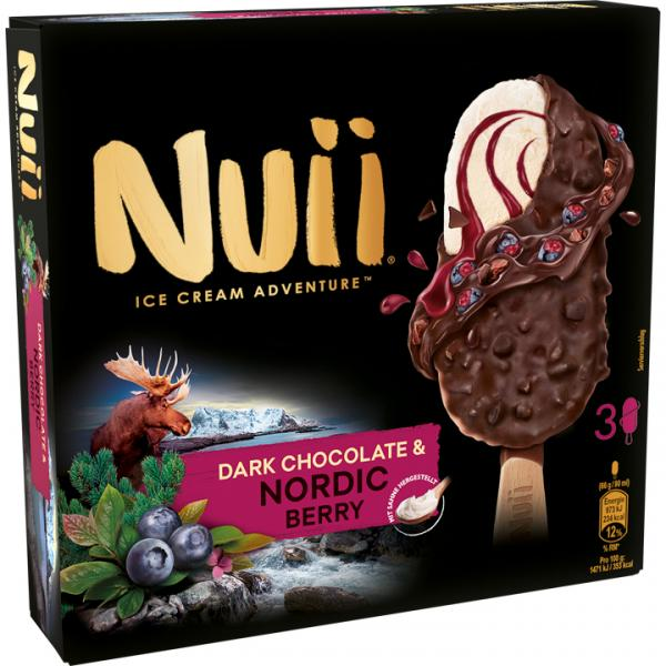 Nuii Eiscreme Dark Chocolate & Nordic Berry