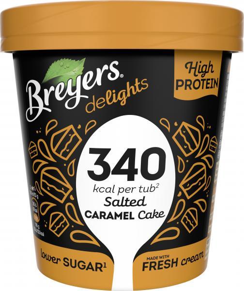 Breyers delights High Protein Eiscreme Salted Caramel Cake