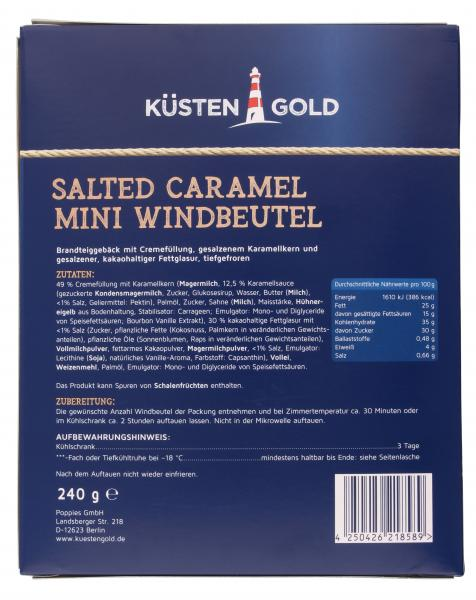 Küstengold Salted Caramel Mini Windbeutel