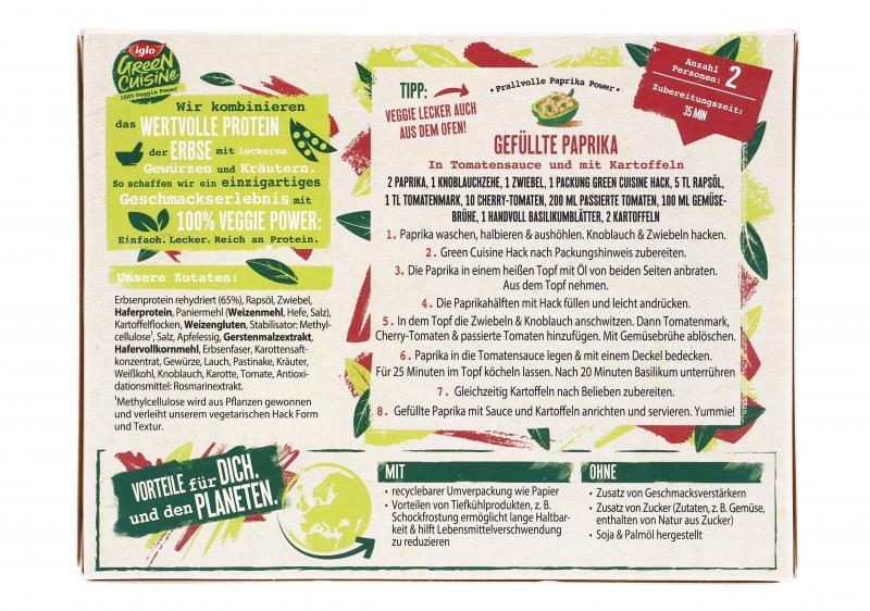 Iglo Green Cuisine Vegetarisches Hack