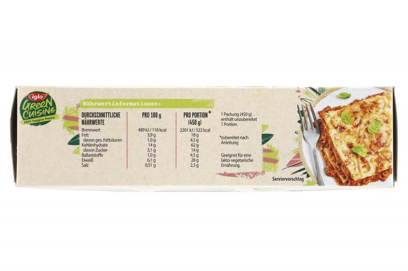 Iglo Green Cuisine Lasagne mit vegtarischem Hack