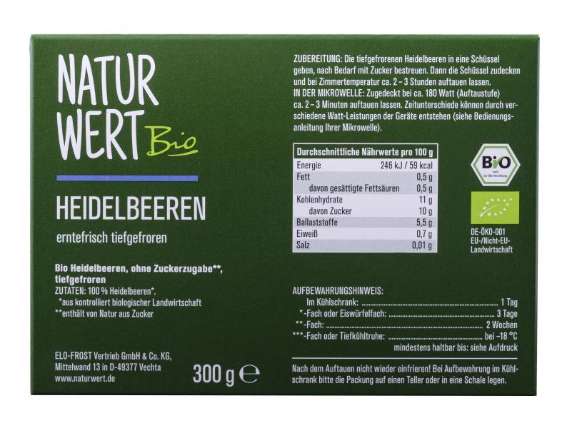 NaturWert Bio Heidelbeeren
