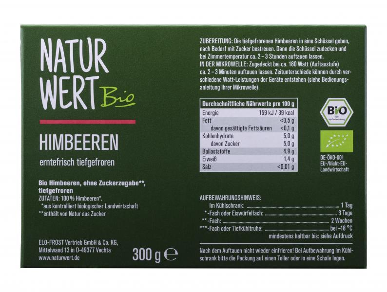 NaturWert Bio Himbeeren