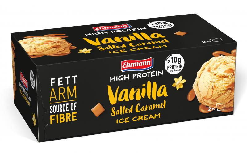 Ehrmann High Protein Vanilla Salted Caramel Ice Cream