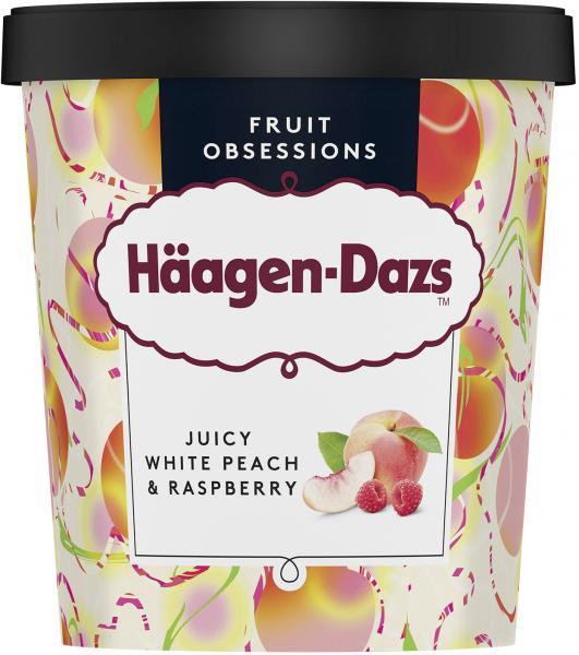 Häagen-Dazs Eiscreme Juicy White Peach &  Raspberry