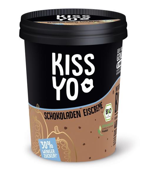 Kissyo Bio Eiscreme Schoko 30% weniger Zucker